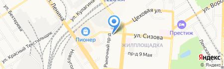 Алтай-жалюзи на карте Барнаула