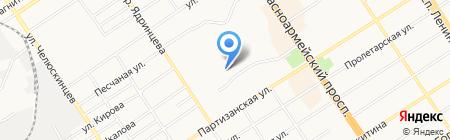 Гимназия №22 на карте Барнаула