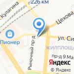 Бизнес-МП на карте Барнаула