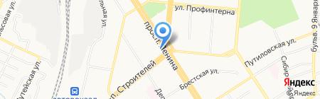 Адвокатский кабинет Дедюшиной Н.В. на карте Барнаула