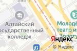 Схема проезда до компании Обувной магазин в Барнауле