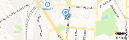 Лицей №130 на карте Барнаула