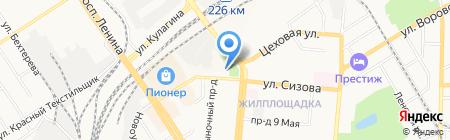 Малышок на карте Барнаула