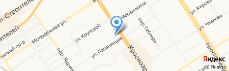 Президент на карте Барнаула