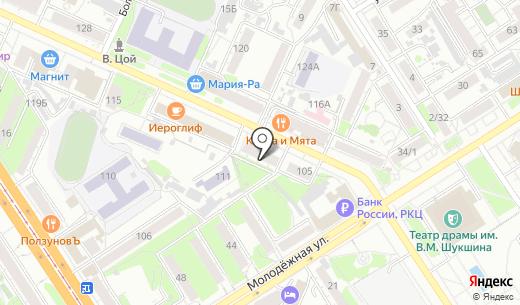 Творческая мастерская Александра Деринга. Схема проезда в Барнауле