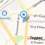 Стеклотон на карте Барнаула