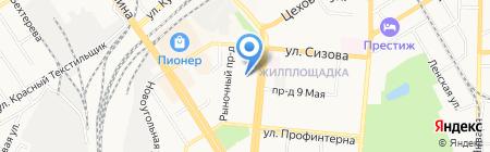 Галилео на карте Барнаула
