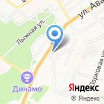 Магазин продуктов на карте Барнаула
