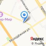 Гоголь на карте Барнаула