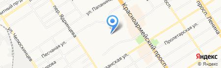 Клиника профессора Григорьевой на карте Барнаула