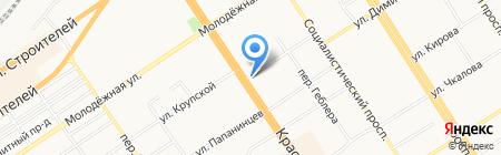 Королевский на карте Барнаула