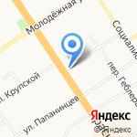Лада на карте Барнаула
