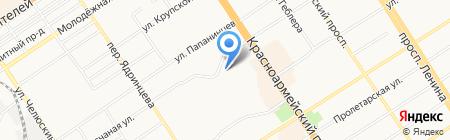 ГАЦ АР НАКС на карте Барнаула
