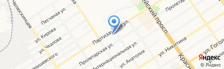 Алтика на карте Барнаула