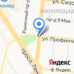 Салон цветов и подарков на карте Барнаула