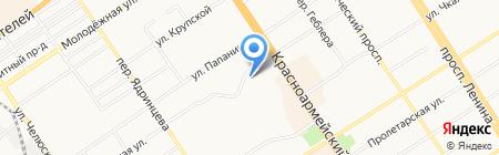 Студия ламинирования ресниц на карте Барнаула