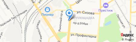 Флора-Дизайн на карте Барнаула