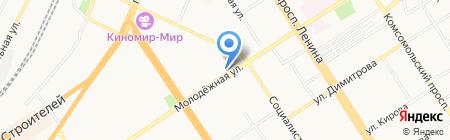 Воздушный замок на карте Барнаула