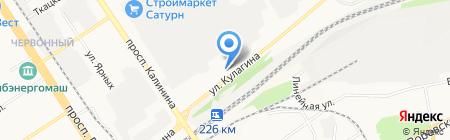 Юникс на карте Барнаула