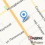 Лицей №86 на карте Барнаула
