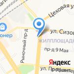 Колор на карте Барнаула
