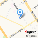 Детский сад №23 на карте Барнаула