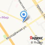 Зимняя вишня на карте Барнаула