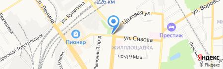 Киоск по продаже рыбы на карте Барнаула