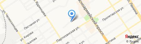 Наташа на карте Барнаула