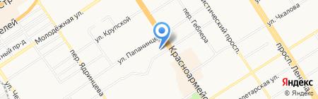 ТРОЯ на карте Барнаула