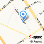 Скорая юридическая помощь на карте Барнаула