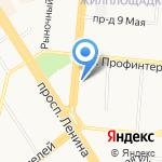 Беркана на карте Барнаула