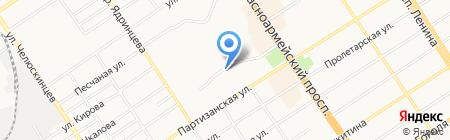 Пенный рай на карте Барнаула