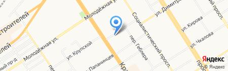 Алтайский визовый центр на карте Барнаула