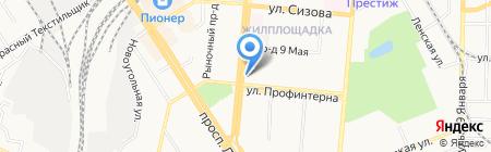 Арсенал на карте Барнаула