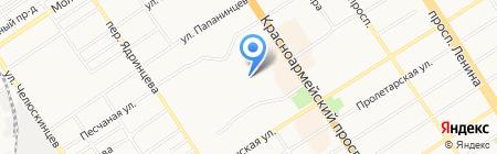 Элит на карте Барнаула