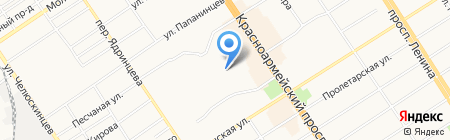 Пилигрим-Т на карте Барнаула