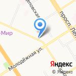 Чешская булка на карте Барнаула
