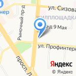 Электрон на карте Барнаула