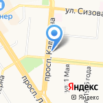 Автогайка на карте Барнаула