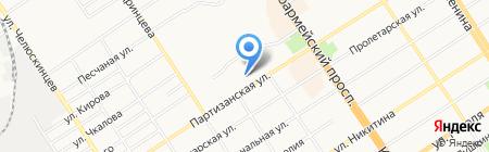 Апельсин на карте Барнаула
