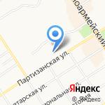 Эльриша на карте Барнаула