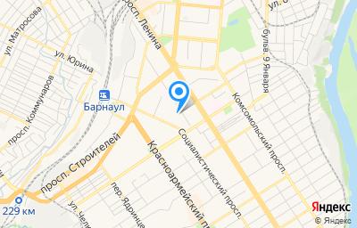 Местоположение на карте пункта техосмотра по адресу г Барнаул, ул Деповская, зд 7