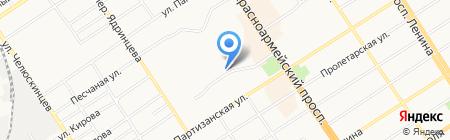 Мастерская по ремонту обуви и изготовлению ключей на карте Барнаула
