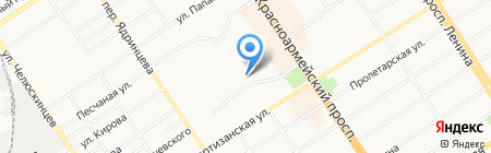 Альгиз на карте Барнаула