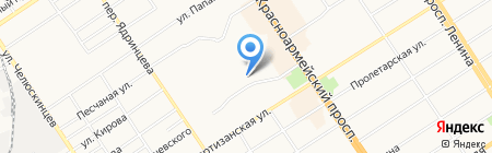 Гакумон на карте Барнаула