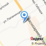 Дэви на карте Барнаула