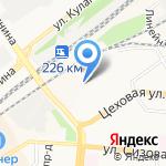 Алтайкровля на карте Барнаула