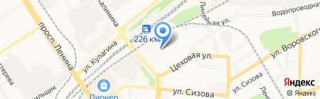Ларичихинский леспромхоз на карте Барнаула