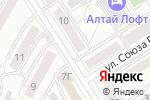 Схема проезда до компании Правовая защита в Барнауле